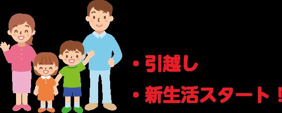 引越し新生活スタート!